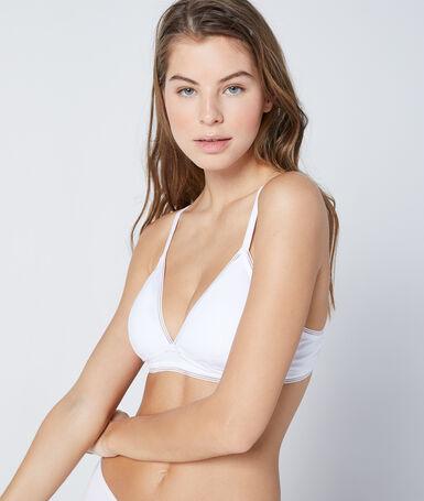 Cotton non-wired triangle white.