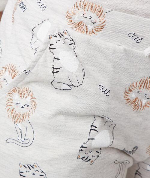 Cat print pyjama trousers