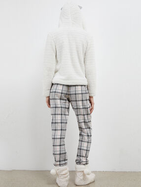 Homewear striped jacket ecru.