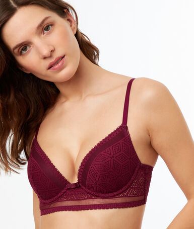 Lace push up bra purple.