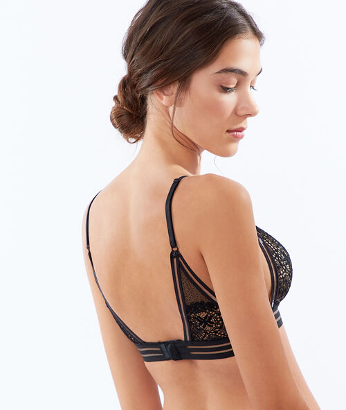 Lace and tulle bralette