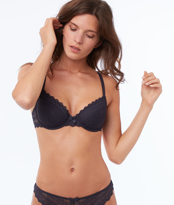 Bra no. 4 - lightly padded bra anthracite.