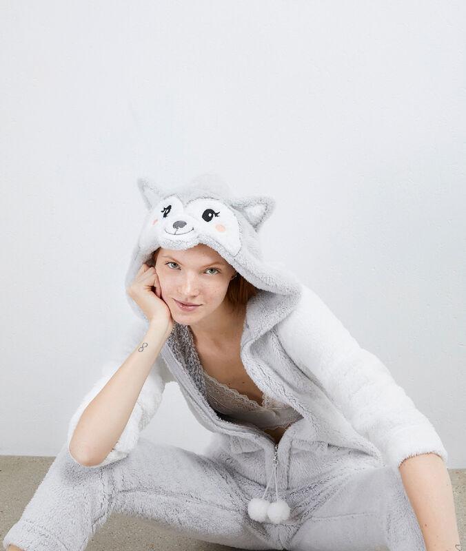 Llama onesie gris clair.