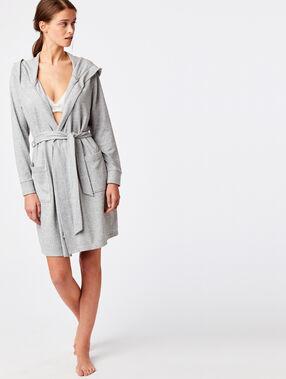 Grey dressing gown grey.