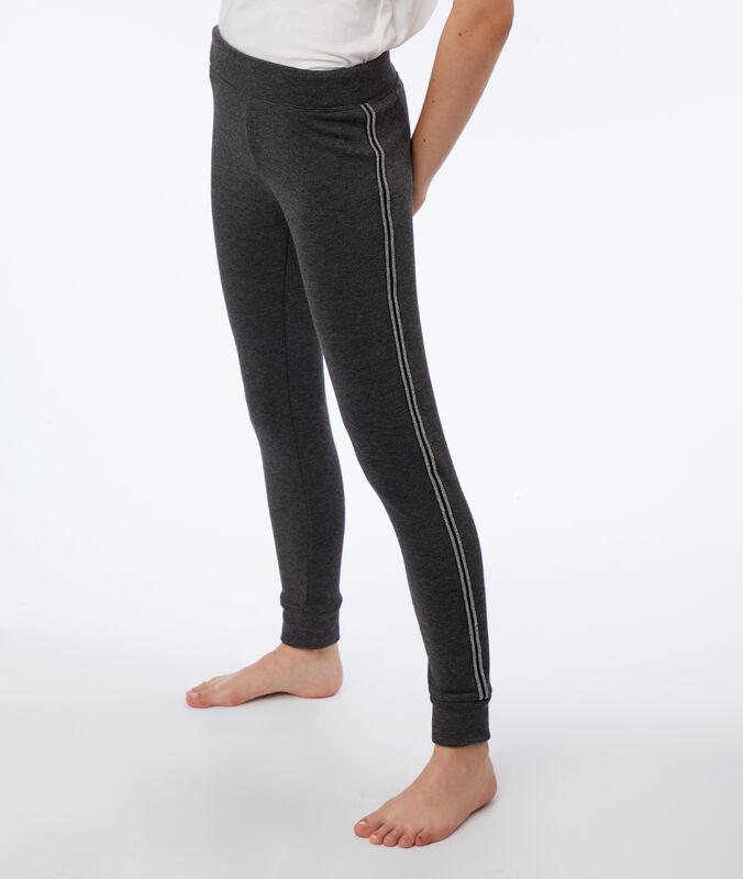 Pants with metallic edges anthracite.