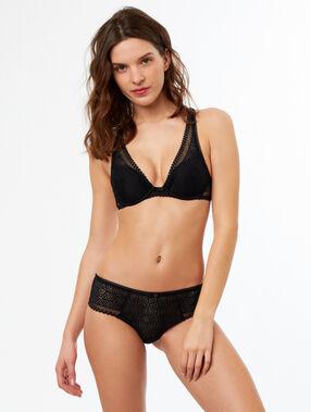 Light padded triangle bra black.