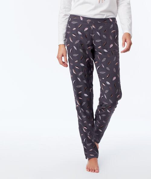 Three-piece owl print pyjama set