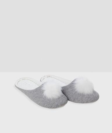 Tassel slippers gray.