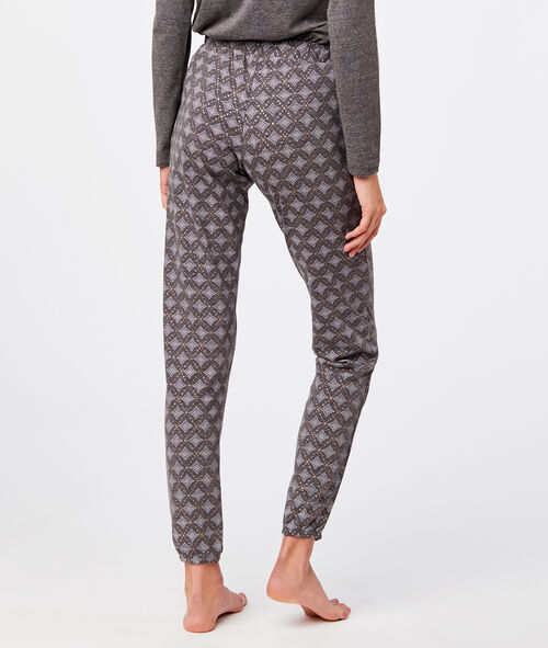 Ditsy print pyjama trousers