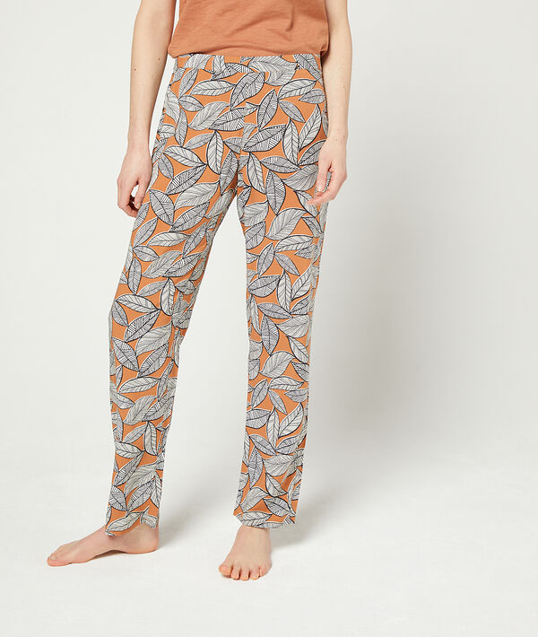 Trousers in a foliage print;${refinementColor}