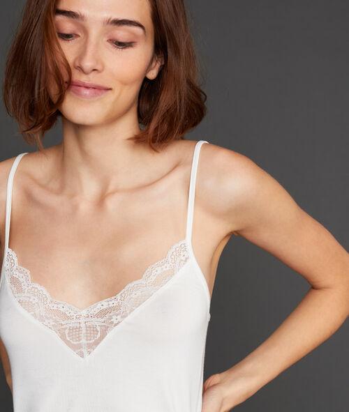Lace neckline top