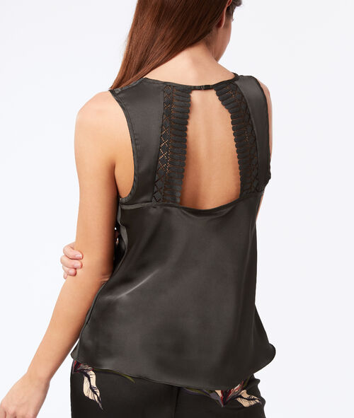 Graphic lace top