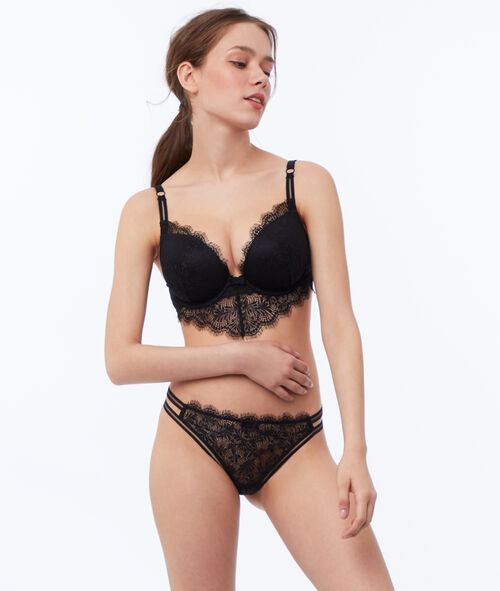 Bra no. 5 - classic padded lace bra with basque