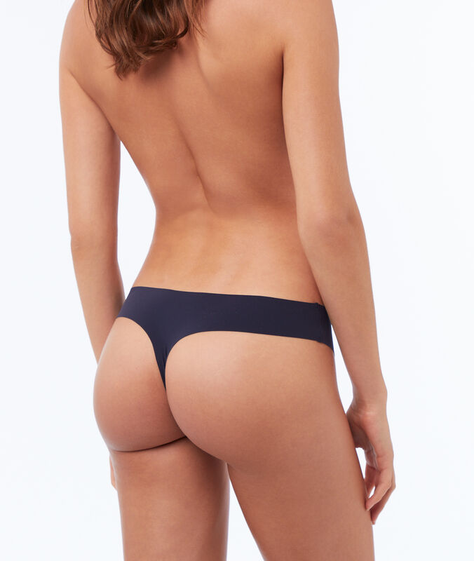 Invisible microfiber thong navy.