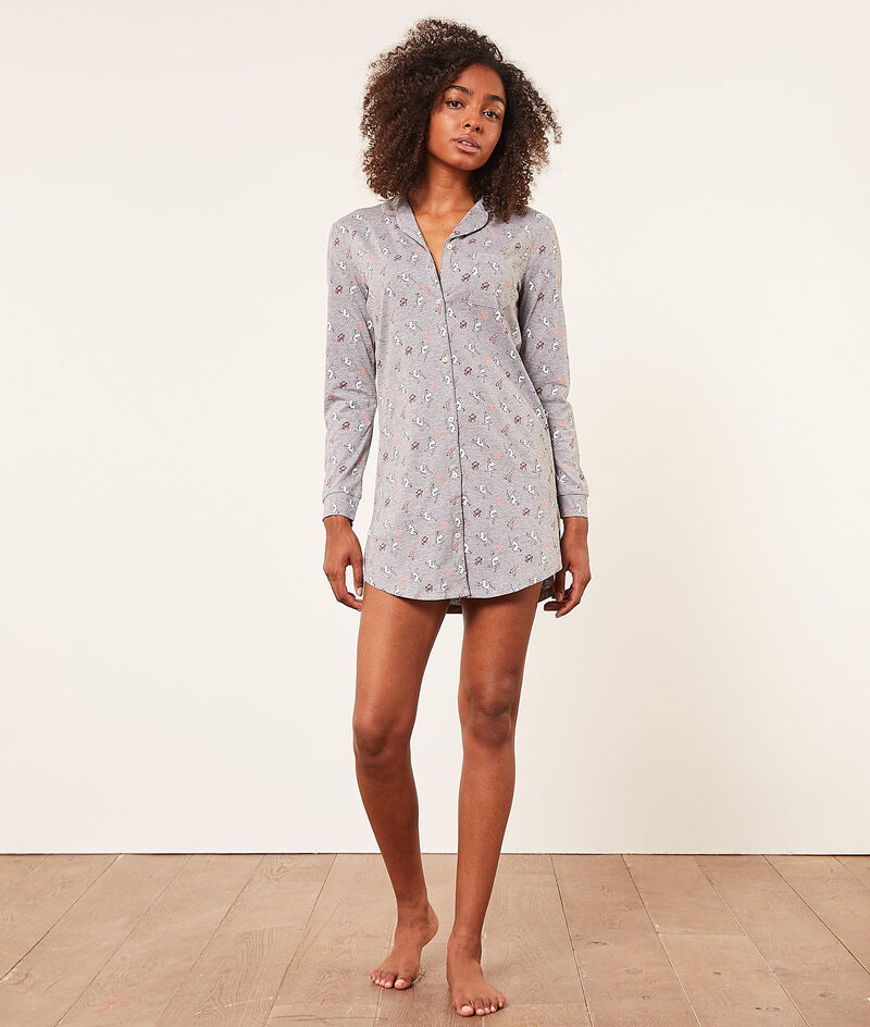 Long-sleeved nightshirt;${refinementColor}