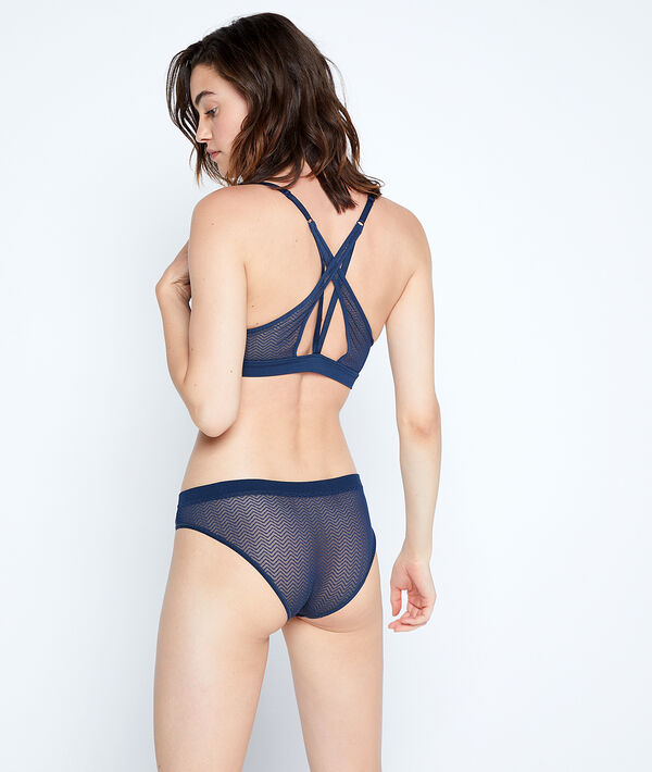 Microfibre brief with sequins;${refinementColor}