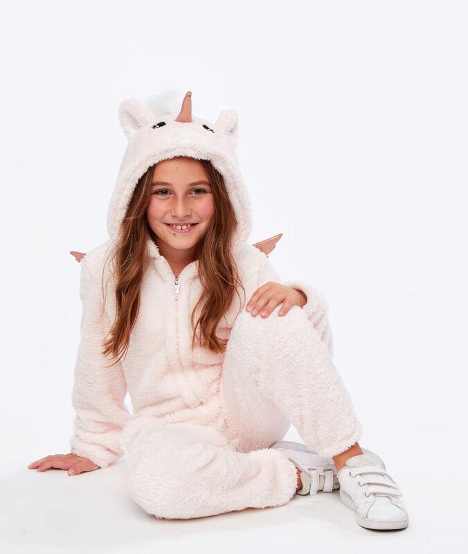 Kids unicorn onesie rose.