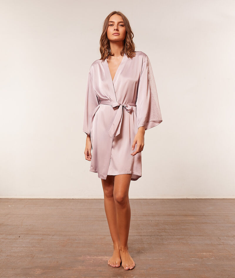 Satin kimono robe ;${refinementColor}