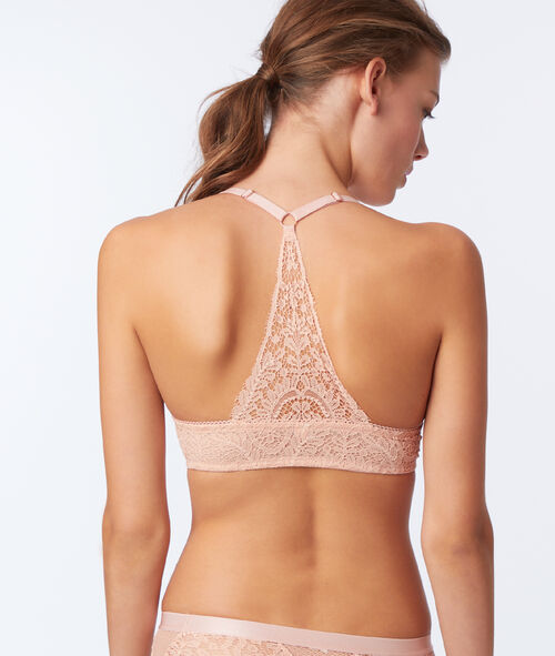 Bra No. 5 - Classic padded lace bra with racer back