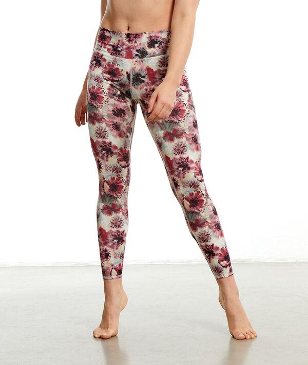 Legging de yoga long à fleurs;${refinementColor}