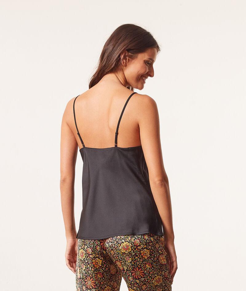 Low cut buttoned camisole ;${refinementColor}