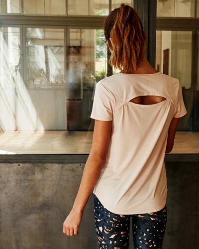 Open back t-shirt dune.
