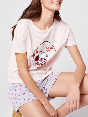 "T-shirt ""love more"" snoopy blush."