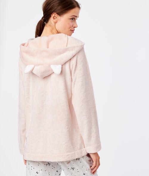 Fluffy hooded jacket