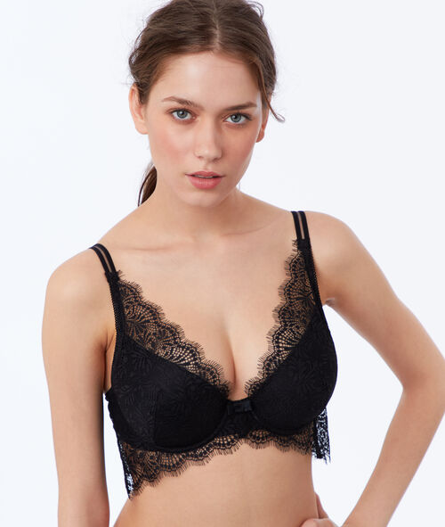 Bra no.6 - natural lace triangle