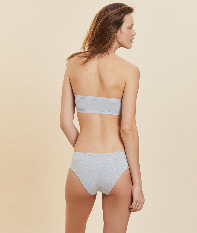 Non-wired stretchy organic cotton bandeau bra;${refinementColor}
