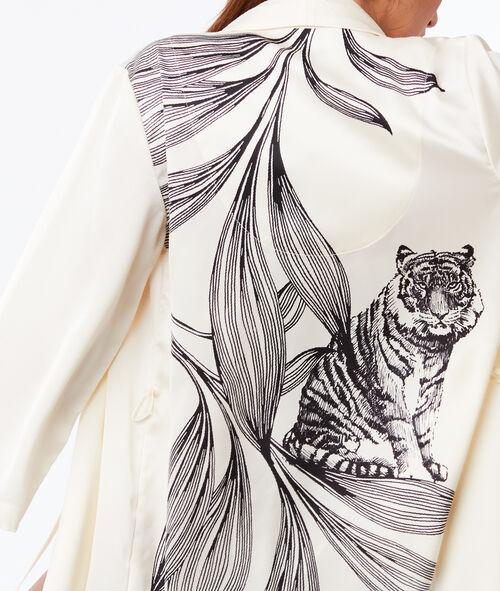 Déshabillé satiné dos imprimé Grand Tigre