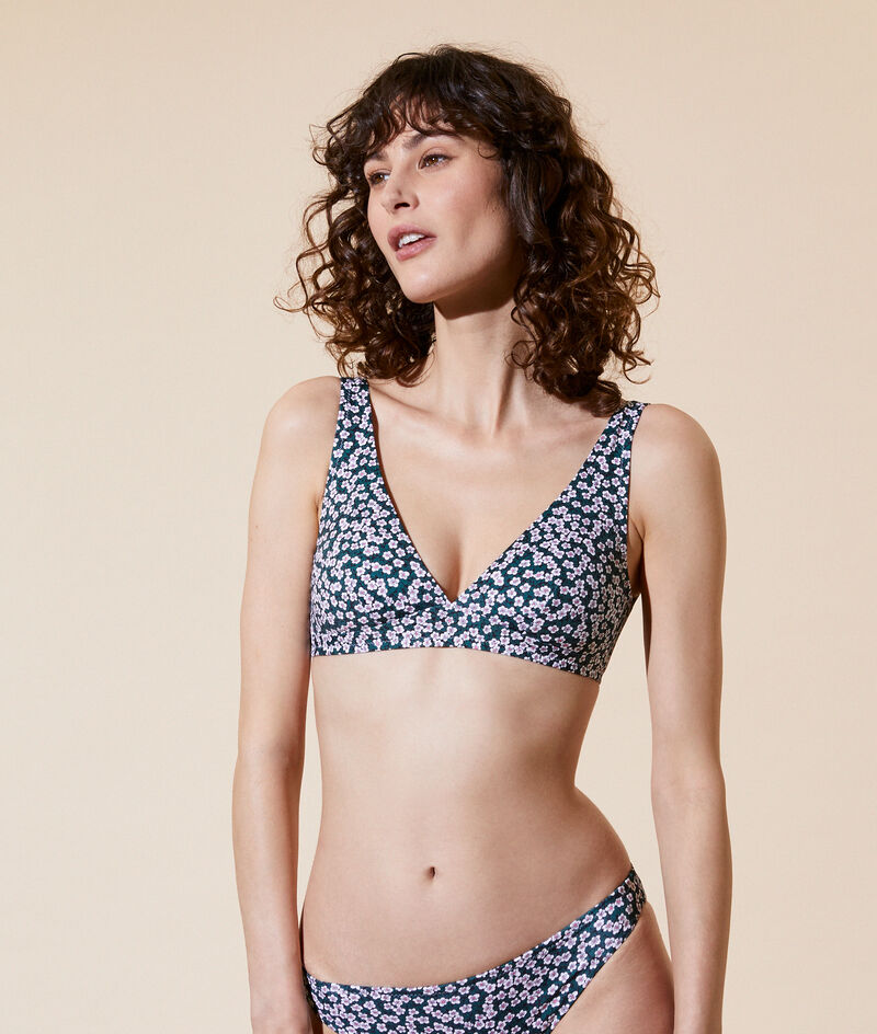 Bandeau bikini top, removable pads;${refinementColor}
