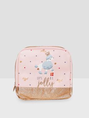 Let's be jolly' washbag pink.