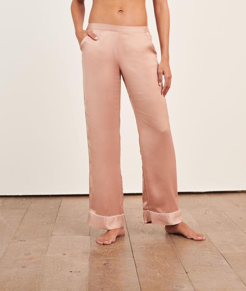 Satiny pyjama trousers;${refinementColor}