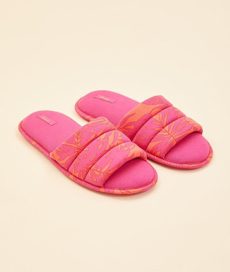 Print slider slippers;${refinementColor}