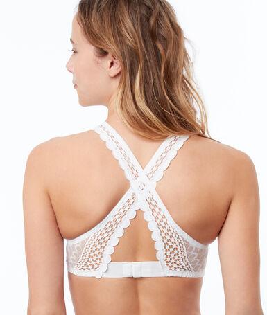 Bra no. 6 - various natural lace triangle ecru.