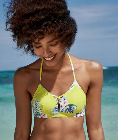 Triangle bikini top anis.