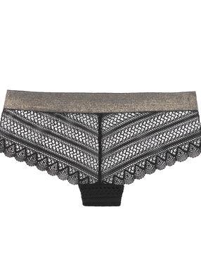 Lace shorts, iridescent sides black.