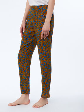 Ethnic print trousers blue.