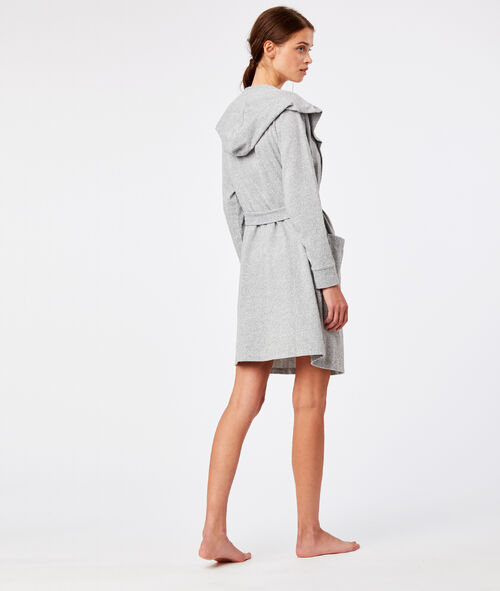 Grey dressing gown