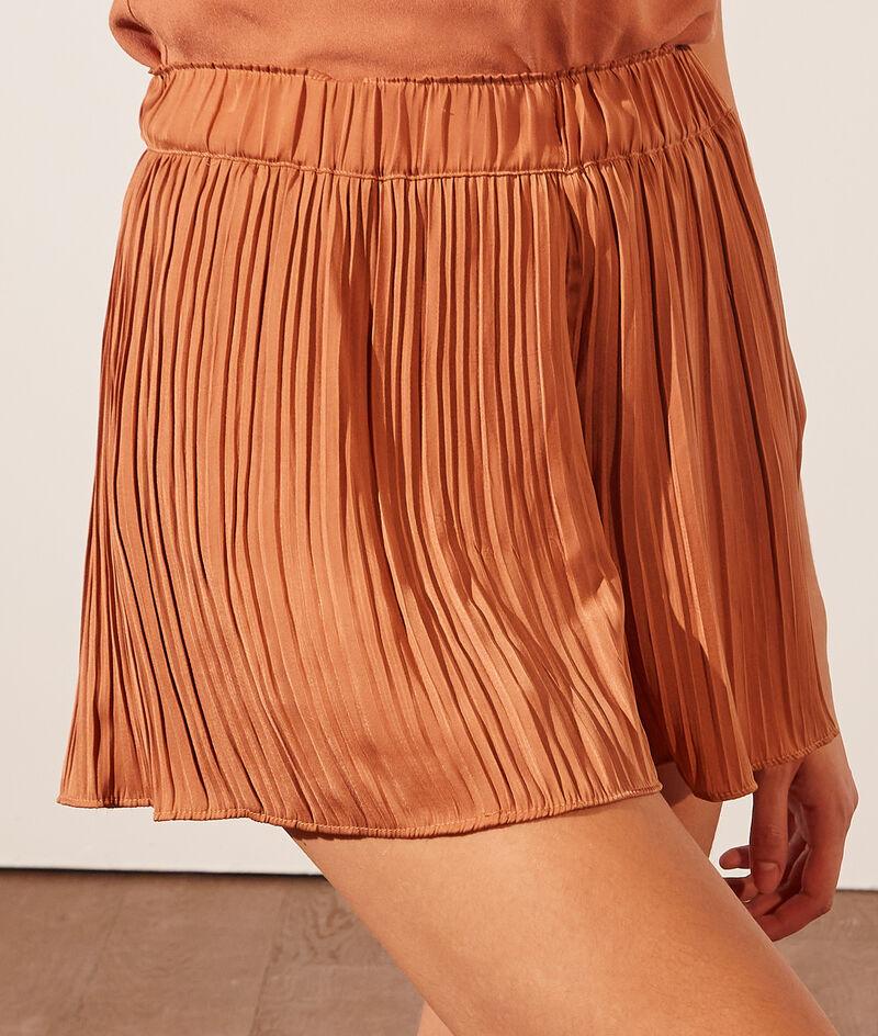 Plissé pyjama shorts;${refinementColor}