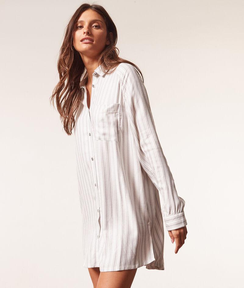 Striped nightdress ;${refinementColor}