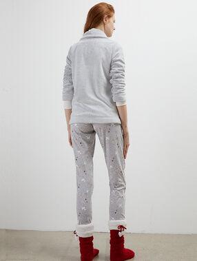 Three-piece pyjama set gray.