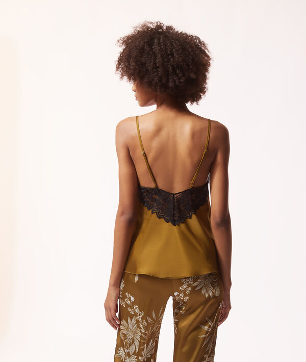 Camisole with lace;${refinementColor}