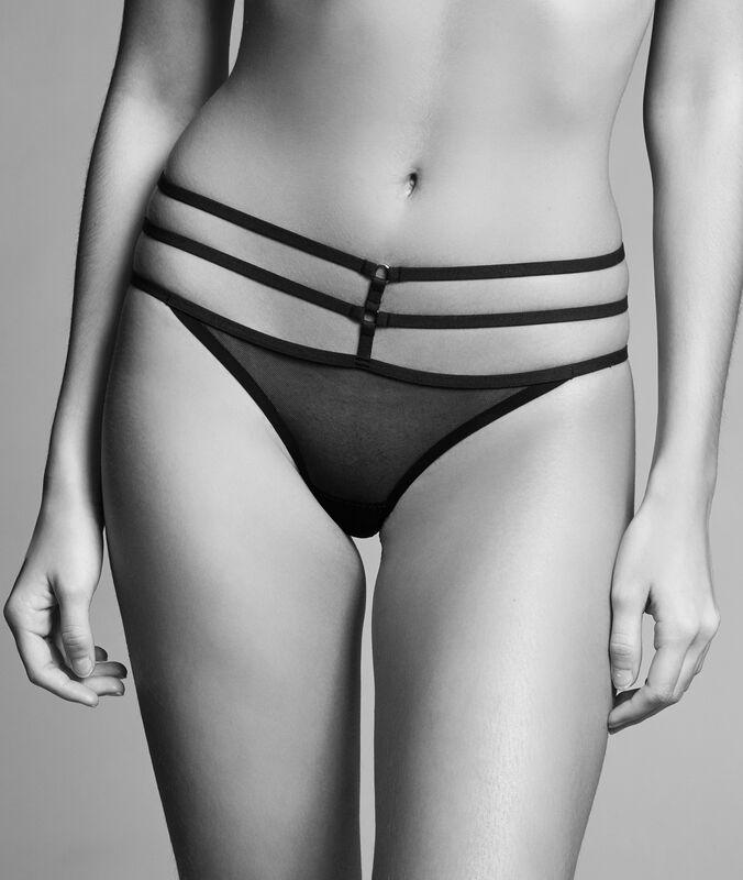Sexy mesh - thong noir.