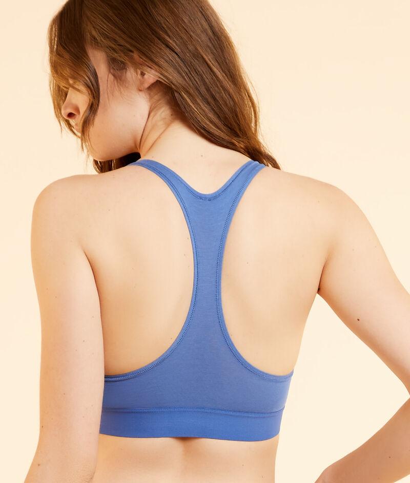 Racer-back cotton bra;${refinementColor}