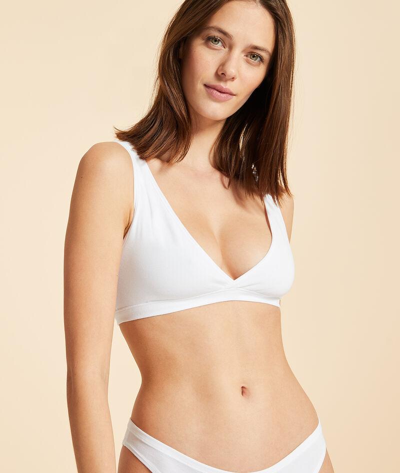 Reversible stretch cotton bra;${refinementColor}