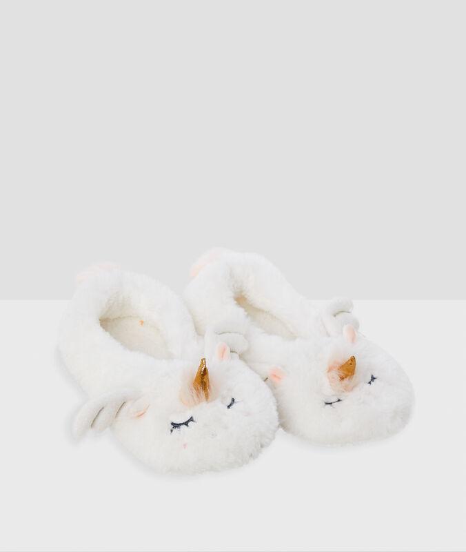 Soft animal slippers ecru.