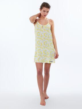 Lemon print nightdress yellow.