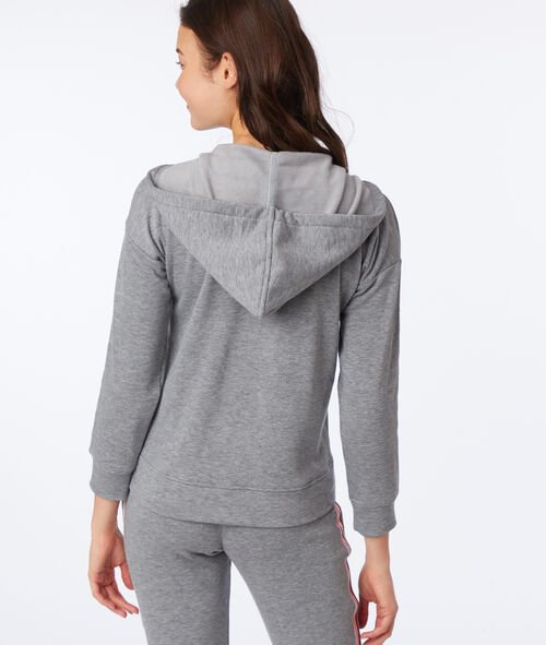 Lounge hooded jacket
